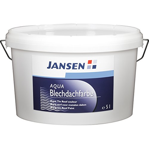 Jansen Aqua Blechdachfarbe 5l Neu-und Renovierungsbeschichtung englischrot