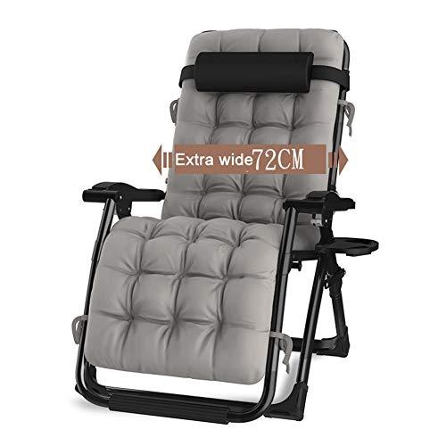 Liegestuhl Übergroße Schwerelosigkeit Stuhl, 440 Pfund Gewicht Kapazität Patio Lounge Chair, Verstellbare Faltbare Sitz Stuhl Matte und Getränkehalter (Faltbarer Stuhl-matte)