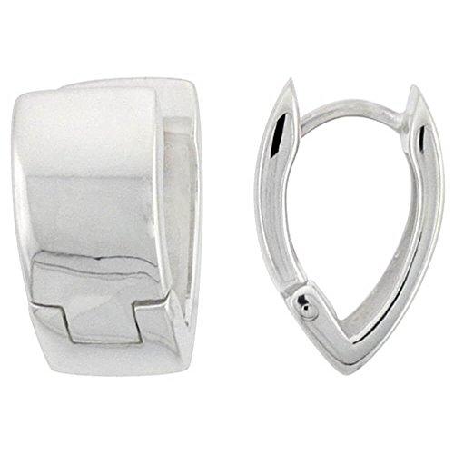Umarmung Ohrringe aus Sterling Silber,einwandfreie Politur, V-Schliff,16 mm gross