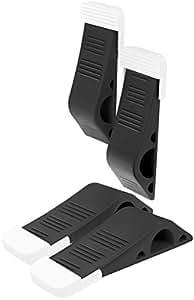 Stilemo Fermaporta - Fermaporta a cuneo di design per l'ufficio e la casa - 4 Fermaporte in gomma (nero)