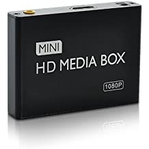 Shopinnov–Lector multimedia Alta Definición 1080P HDMI AV, tarjeta SD, USB