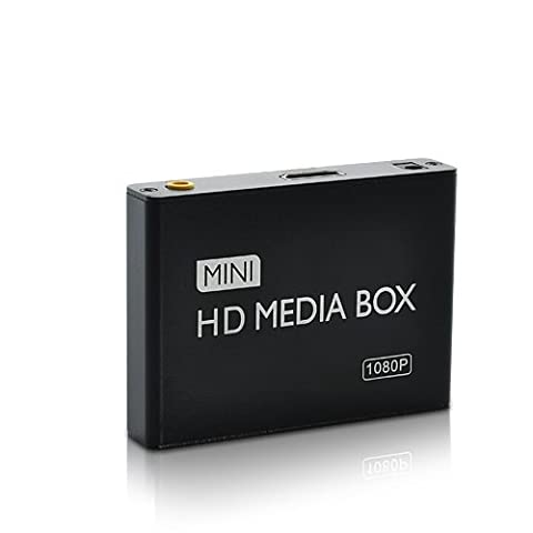 SHOPINNOV Lecteur multimédia haute définition 1080P HDMI AV Carte SD clé USB