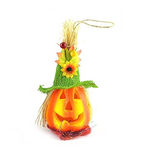 Kostüm Vogelscheuche Kürbis - Halloween Party Set Leuchtender Vogelscheuche-Kürbis Halloweens hellgrüner Hut für Festival Cosplay Halloween Kostüm