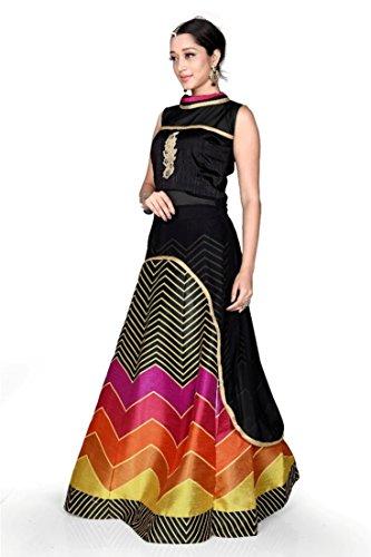 Adorn Fashion New Arrival Black Banglori Georgette semi-stitched Indo Western