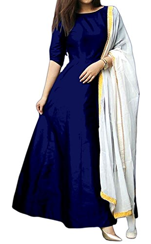 Maa Enterprise Women's Lehenga Choli (Navy Blue_Free Size)