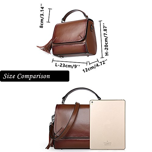 Sheli Damen Lederrucksack Vintage Antitheft Leather Handbag Purse Pocketbooks Handbags for Women Ledertasche Liebeskind Pink