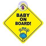 ZOCONE Adesivi Baby On Board, 4 Pezzi Adesivo per Auto Bambino a Bordo Bimbo a Bordo Baby on Board Sign Segno di Attenzione Adatto per il Nuovo Genitore e Bambino