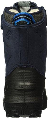 Viking Nordlys, Bottes et bottines à doublure chaude mixte enfant Bleu - Blau (Black/Navy 205)