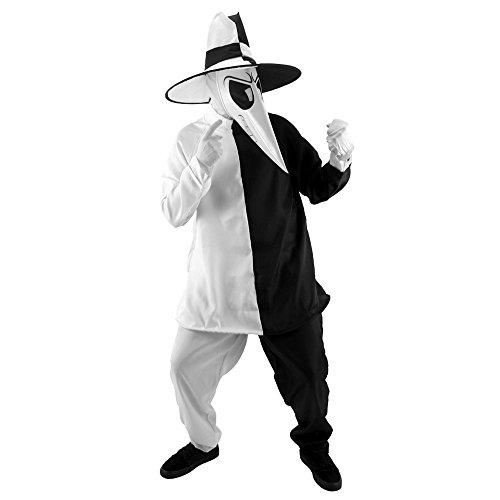 egenheiten EL402296 Spy Vs Spy Blk-White Sm-Md (Spy Vs Spy Kostüm)