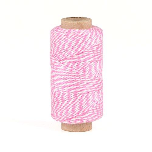 Bastelgarn | Bäckergarn | Bakers Twine rosa, weiß