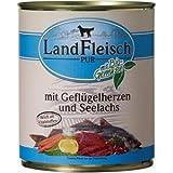 Landfleisch Dog Pur Geflügelherzen&Seelachs 800g
