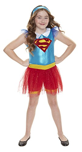 DC Super Hero Mädchen 56737-eu Supergirl Everyday Verkleiden Outfit (One ()