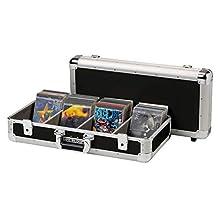 Reloop 100 CD Case - Profi CD-Case, äußerst robuste Konstruktion, 4-fach Unterteilung, 2 abschließbare Schnappschlösser, schwarz