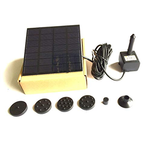 Submersible Fountain Pump Kit (ForceSthrength Solar Panel Water Pump Kit Fountain Pool Garden Pond Submersible Watering)