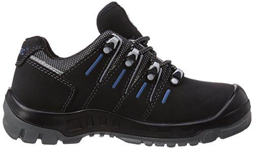 Wortec Manolo S1p, Chaussures de sécurité mixte adulte Schwarz (schwarz/grau/blau)