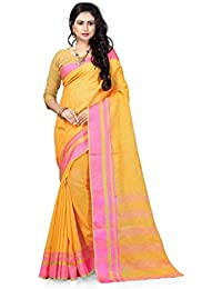 07d50b113eb Lookatmecreation Self Design Fancy Linen Silk Party Wear Golden Color Saree.