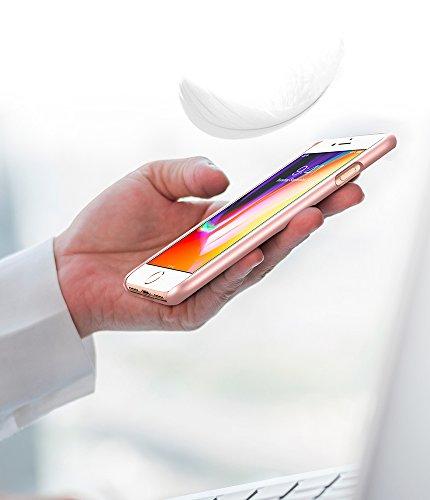 iPhone 8 Hülle, Spigen® [Thin Fit] Passgenau [Schwarz] Slim Hart PC Hardcase Schale Schlanke Handyhülle Schmal Schutzhülle für Apple iPhone 8 Case Cover - Black (054CS22208) TF Rose Gold