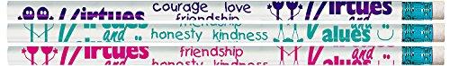 Sacchetto del partito Confezione da 36 pezzi HB matite - 3 colori assortiti Valori e virtù tema con gomma sulla parte superiore da Stati Uniti d'America