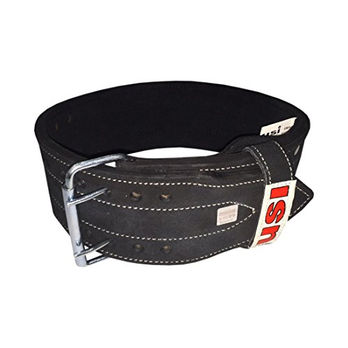 If you want to increase your squats and deadlifts or want to just keep your lumbar region stable so as to avoid injuries then a proper weight lifting belt is warranted for.  This weight lifting belt from USI is of thick leather make and broad enough to cover your almost entire lumbar region. Due to the fact that all the muscles of your lower back are held together and stable your power output on squats and deadlifts will certainly go up. Also since your vertebrae are stable you don't risk the possibility of unwanted incidences like muscle strains and slipped disks.