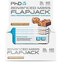 PhD Nutrition Advanced Mass Flapjack, Chocolate Peanut, Pack of 12 x 120g