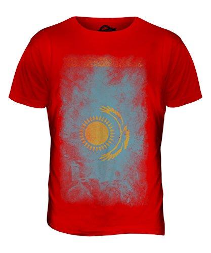 CandyMix Kasachstan Verblichen Flagge Herren T Shirt Rot