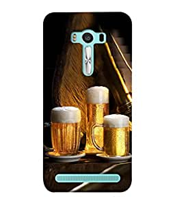 PrintVisa Drink With Style 3D Hard Polycarbonate Designer Back Case Cover for Asus Zenfone 2 Laser ZE550KL (5.5 Inches)