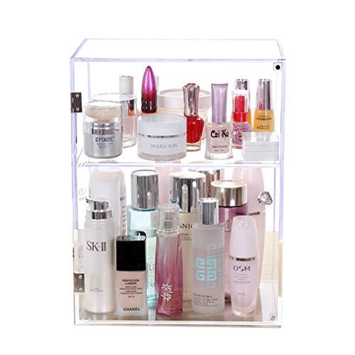 Maquillage Acrylique Organisateur Tiroirs de Rangement Boîte Comptoir Cosmétique de Comptoir Boîte à Bijoux pour Brosses, Rouge À Lèvres, Fondation