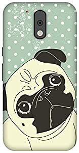 The Racoon Lean printed designer hard back mobile phone case cover for Motorola Moto G Plus 4th Gen. (Pug Life)