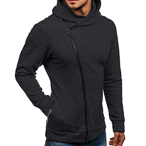 Herren Langarm Hoodies Mann Männlich Herbst Winter Outwear Mode Lässig Sweatshirt Hoodies Mantel Reißverschluss Trainingsanzüge Jacke Moonuy - Armani Kinder Kleidung
