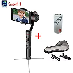 Zhiyun Smooth 3 Axis Joystick Handheld Smartphone Gimbal Stabilizer, Compatible with iPhoneX/8/ 7 / 6s Plus 6s 6Plus 6 5 5s 5c 4s 4 Samsung S5 S6 S6 edge YotaPhone Xiaomi huawei Smartphone with Tripod