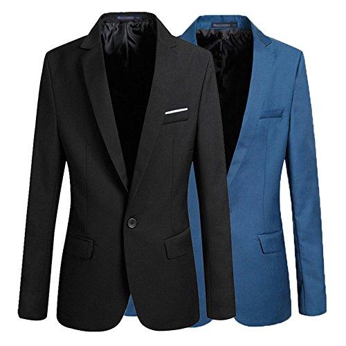 Juleya Uomo Slim Fit Uomo Casual One Button Elegante Vestito di Affari Cappotto Giacca Blazers Top Outwear Giacca 4 Colori 8 taglie Nero