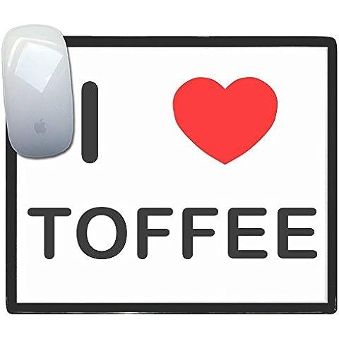 I Love Heart Toffee - Alfombrilla para el ratón de plástico