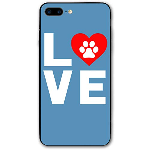 IPhone 7/8 Plus Cases Animal Lover Dog Paw Print Sparkle Glitter Soft TPU Silicone Gel Case Cover