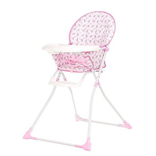 New Obaby Tiny Tatty Teddy Munchy Highchair - Pink