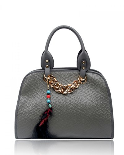 Craze London, Borsa tote donna Grey