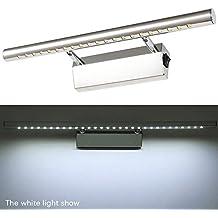 VANKER 5W LED a prueba de agua anti-vaho de baño Iluminación del espejo de lámparas de pared de luz con interruptor - Frío Color Blanco