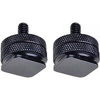 Neewer dos (2) unidades Durable Pro 0,64 cm adaptador de montura de para trípode de zapata a tornillo de