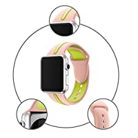 Sports Silicone Bracelet Strap Band For Apple Watch Series 1/2 38MM