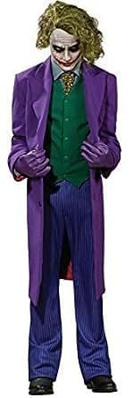 hommes DC Comics de luxe qualité professionnelle Le Joker de Batman Grande maquillage Cosplay Halloween Film costume déguisement - Pourpre, Medium