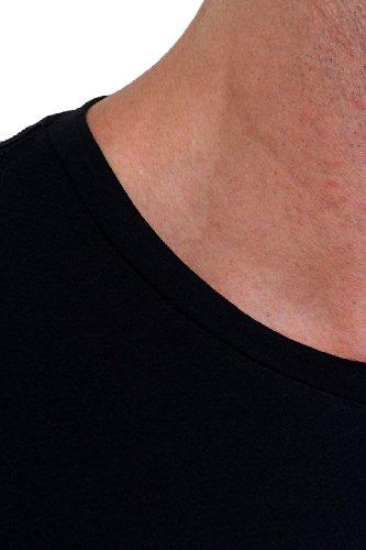 Tru Trussardi Herren Shirt Motiv T-Shirt SUPER Schwarz