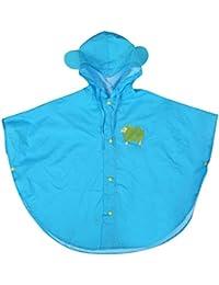 hibote Bebés y Niños poncho de lluvia con capucha del poncho impermeable 80-130cm Tamaño