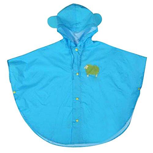 Botetrade Network technology Ltd Botetrade Baby-Kind-Regen-Poncho mit Kapuze Poncho wasserdichten Anzug Größe 110-130cm (L / Blau)