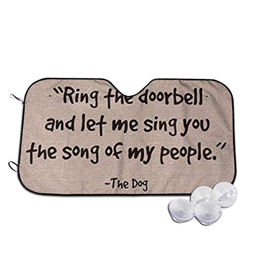 Preisvergleich Produktbild Ring The Doorbell and Let Me Sing The Song of My People Auto Faltbarer UV-Strahlen-Reflektor Auto Frontscheibe Sonnenblende Blende Abdeckung,  weiß,  M