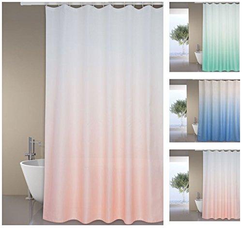"Rosa Duschvorhang (MSV Premium Anti-Schimmel Textil Duschvorhang - Anti-Bakteriell, waschbar, 100% wasserdicht, mit 12 Duschvorhangringen - Polyester, ""Sugar"" Rosa 180x200cm)"