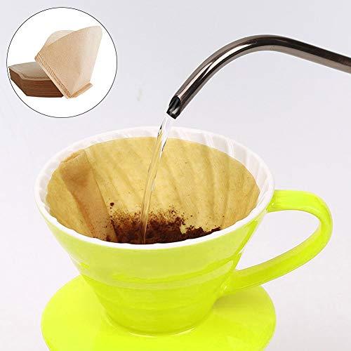 fert, 40Pcs Fan-f?rmige Hand Drip Brew Kaffee Filter Home Office Travel DIY Cafe Paper