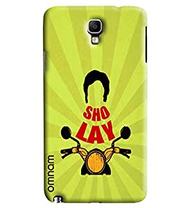 Omnam Sholey Printed with bike design For Samsung Galaxy Note 3 Neo