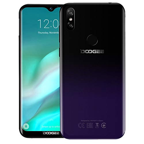 """Smartphone 2019 DOOGEE Y8 3GB + 16GB sblocco smartphone Android 9.0 4G LTE 6.1""""FHD 19: 9 3400mA (Lila)"""