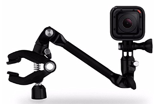 Shoot® jam music supporto morsetto per gopro session, gopro hero 5 black silver hero 4/3 +/3/2/1 + sjcam sj4000 sj5000 sj6000/xiaomi yi/qumox/garmin/vtin (rivestimento flessibile design)