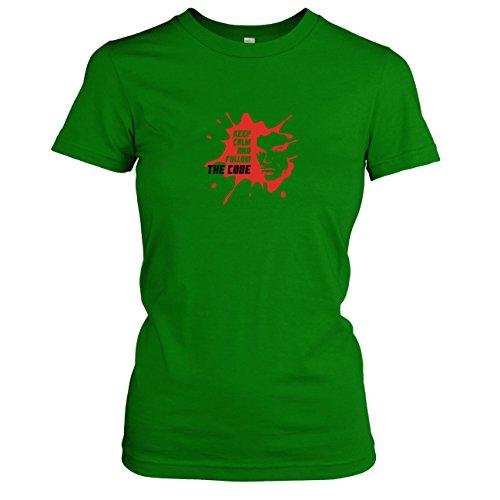 TEXLAB - Follow the Code - Damen T-Shirt, Größe M, (Kostüm Morgan Debra)
