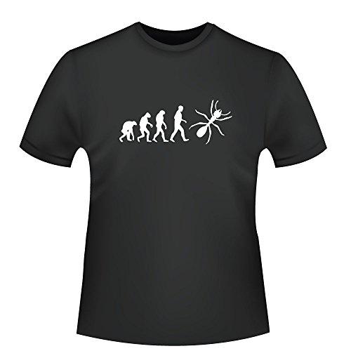 Ameise Evolution, Herren T-Shirt - Fairtrade - ID104932 Schwarz